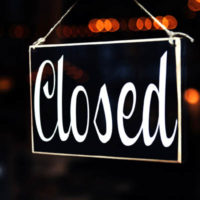 Sorry we are closed covid